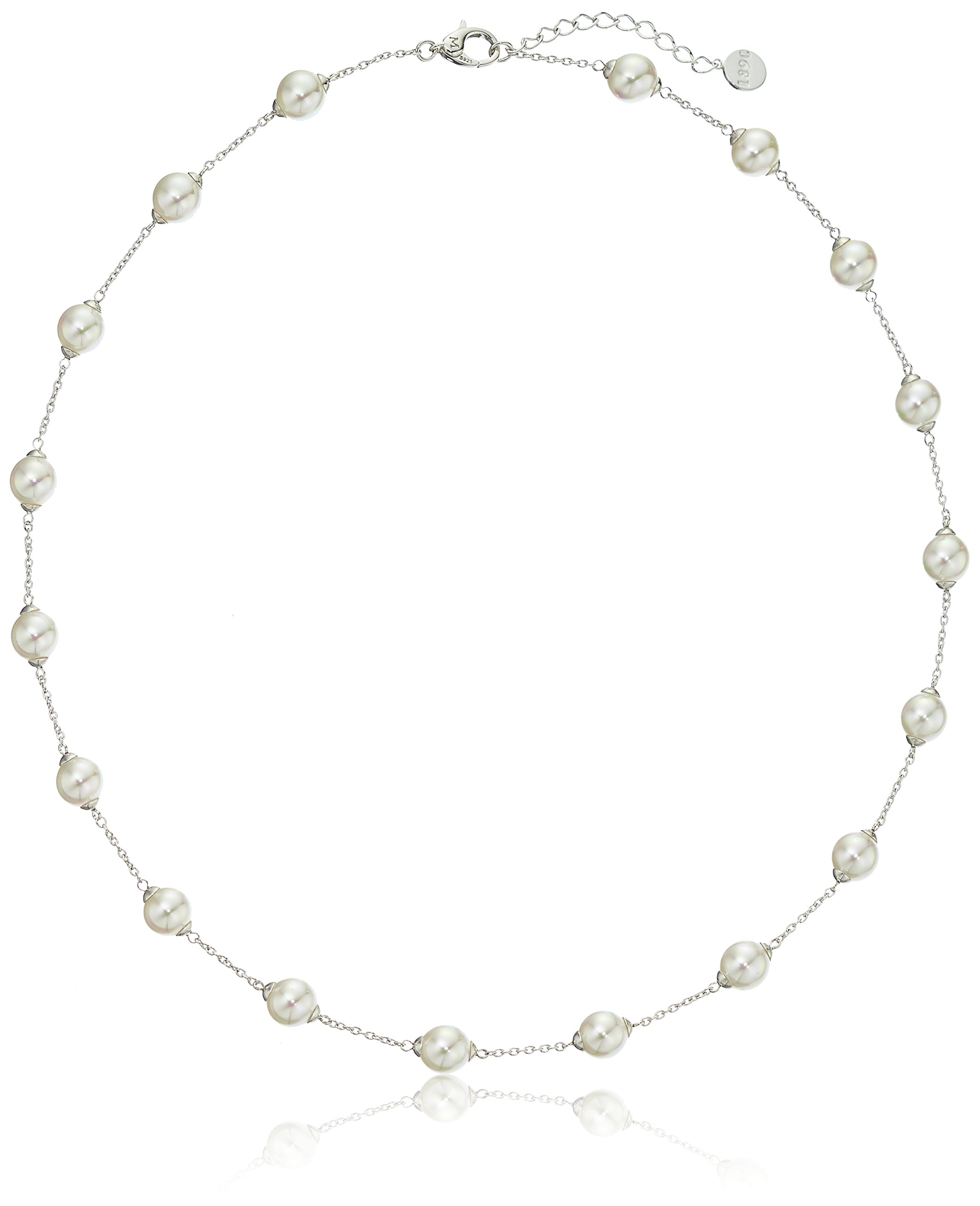 Majorica  Simulated Pearl (8 mm) Station Necklace, 18''