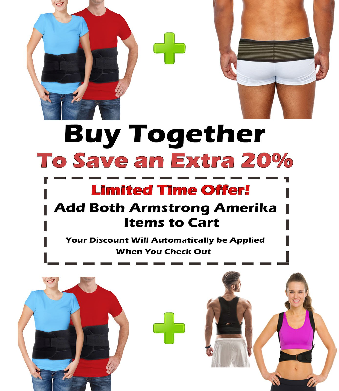 Back Brace for Lower Back Pain – Comfortable Lumbar Support Belt for Weight Lifting and Low Spine Stabilizer for Sciatica Nerve Relief or Scoliosis. Compression for Bulging Herniated Disc (Medium) by ARMSTRONG AMERIKA (Image #7)