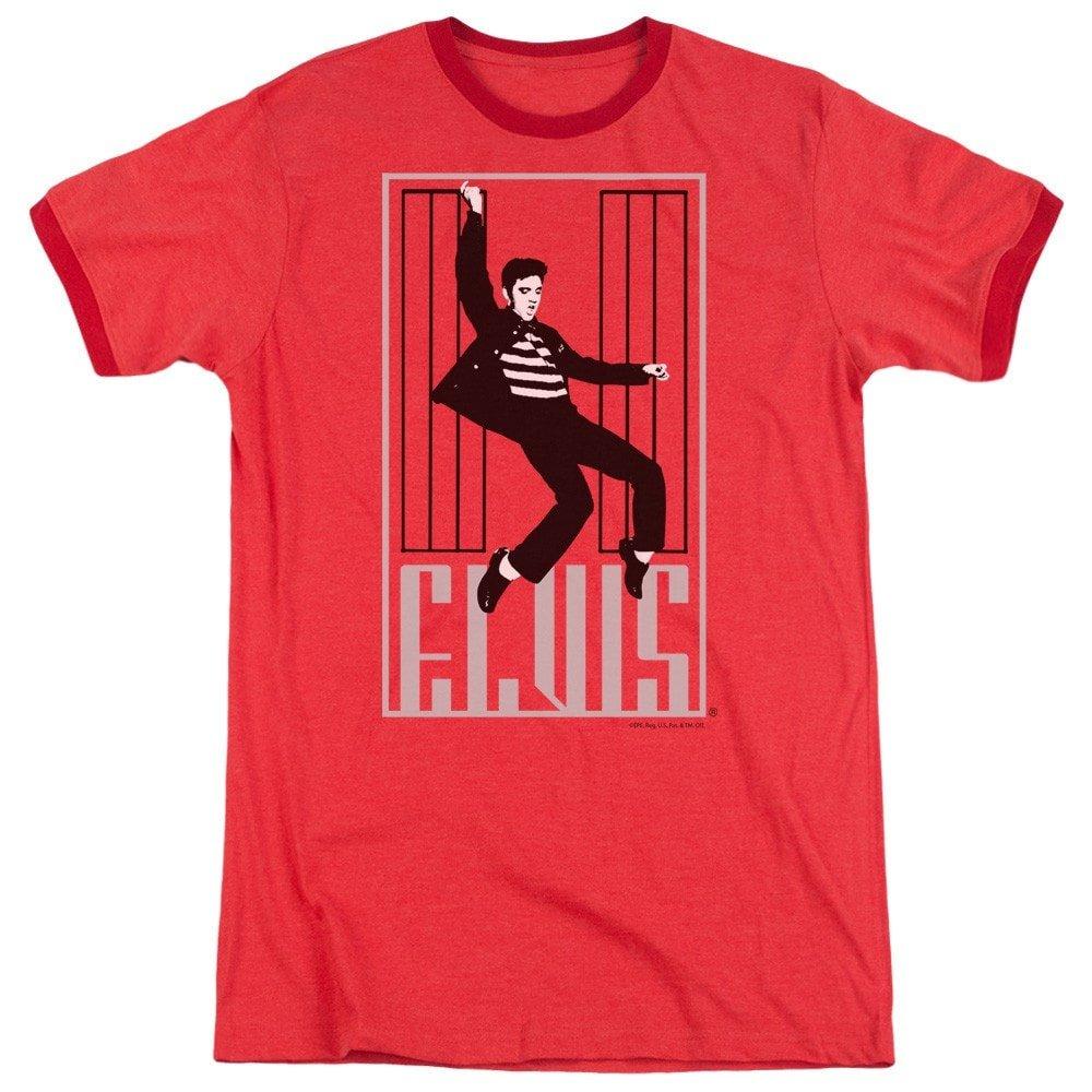 One Jailhouse Adult Ringer T Elvis Shirt