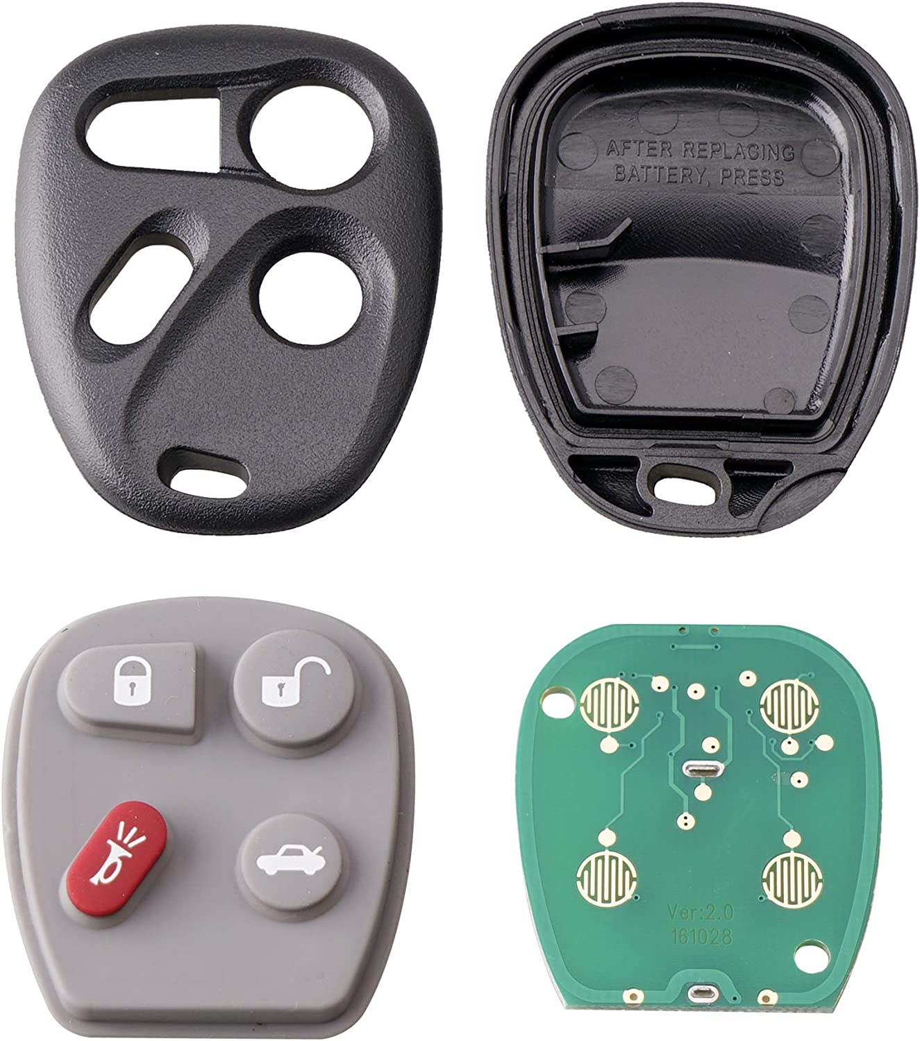 4 Buttons 315Mhz KOBLEAR1XT Keyless Entry Car Fob Remote Key For Chevrolet Corvette C5 2001 2002 2003 2004