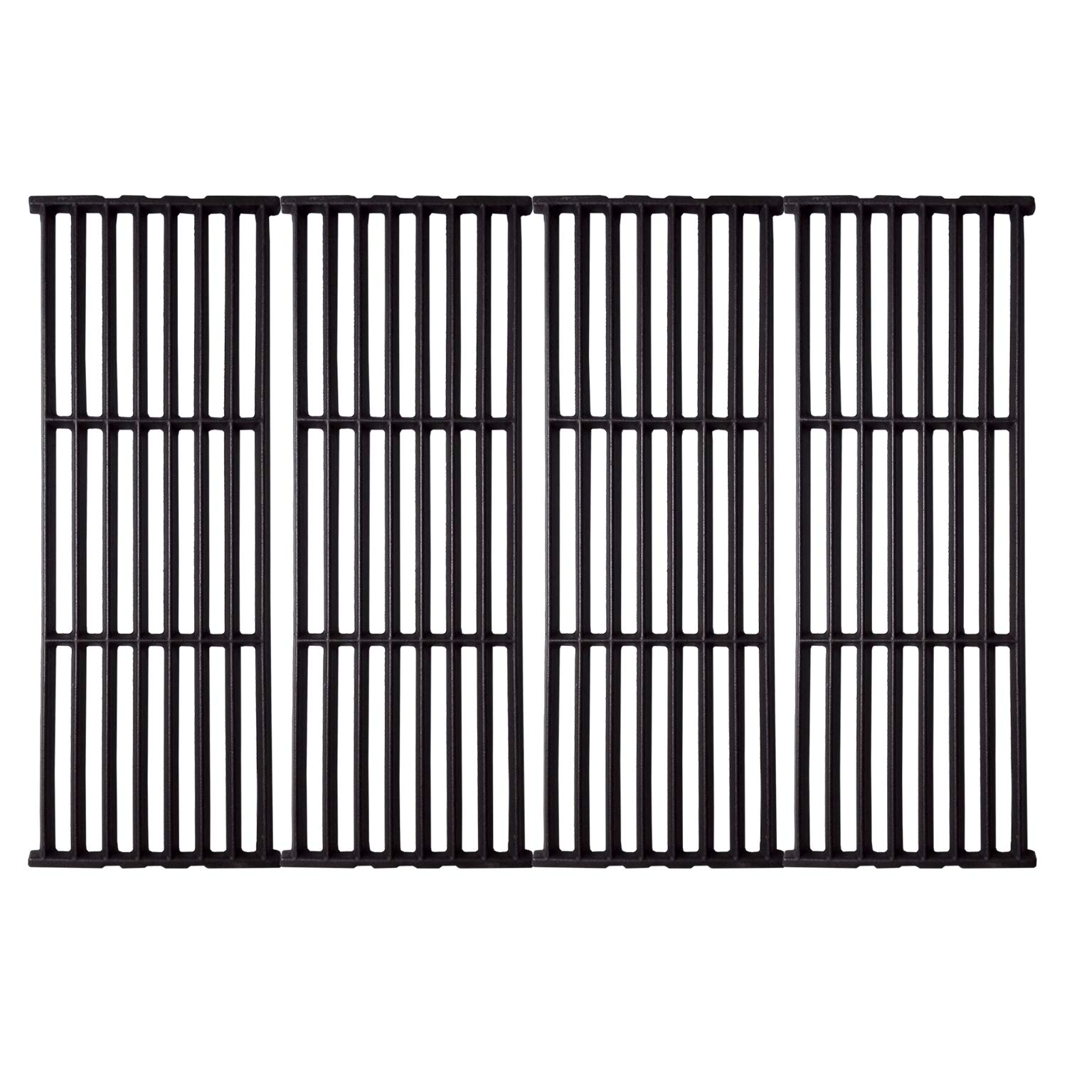Grillflame 17 3/8 x 25 1/2'' Matte Enamel Cast Iron Cooking Grates for Broil King 9625-67, 9625-84, 9625-87, Baron 320, Baron 340, Baron 420, Baron 440, Baron 490