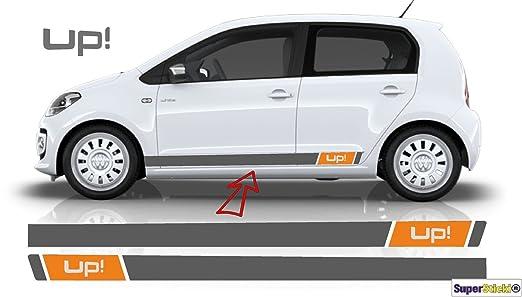 Vw Up Orange Seitenstreifen Aufkleber Set Grau Kann Farblich