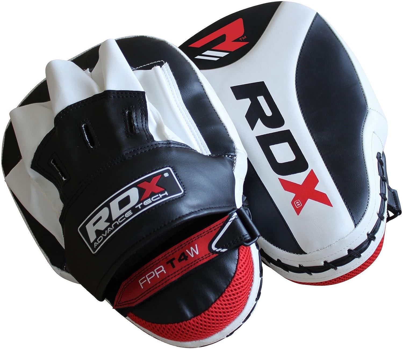 OTH-24 パンチングミット ボクシング 総合格闘技 キックミット 赤黒白セット B01LXFCB44