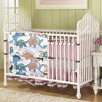 Love2Sleep - Juego de tela Bebé Guardería Cuna Cama bolsillos organizador - organizador para pañales, juguetes, toallitas dinosaurios: Amazon.es: Bebé