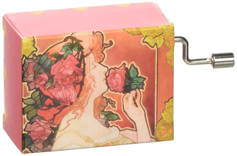 Fridolin 58276 Purple La Vie En Rose/Art Nouveau Music Box