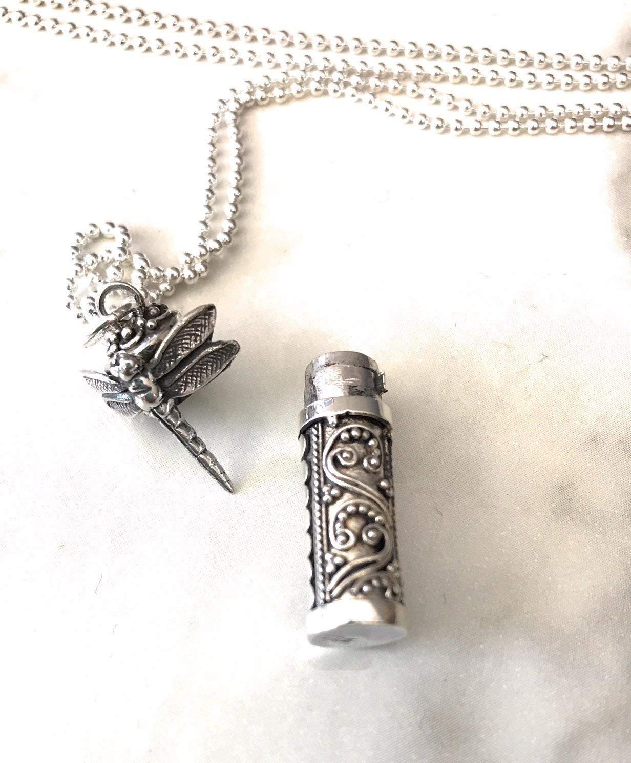Ashes dragonfly necklace