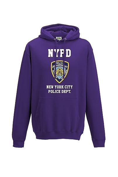 Unisex NYPD neoyorquino Policía inspirado Funny Sudaderas Morado morado XXX-Large: Amazon.es: Ropa y accesorios