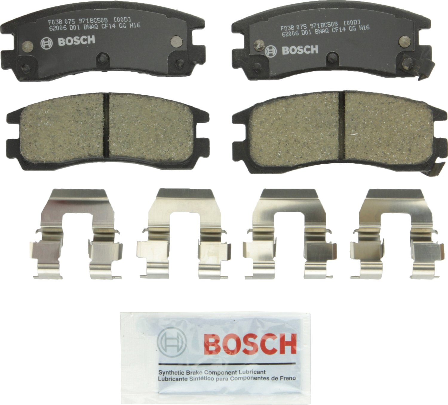 Bosch BC508 QuietCast Premium Disc Brake Pad Set