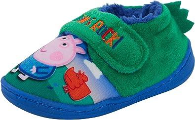 BOYS /& GIRLS SLIPPERS MULES PEPPA PIG /& GEORGE PIG