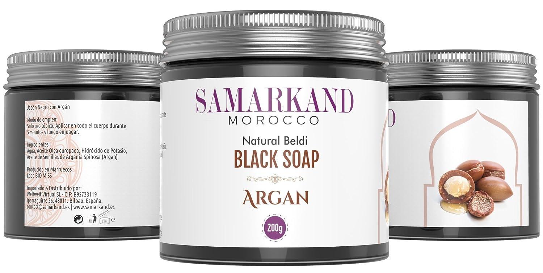 Bio Marroquí Jabón Puro de Beldi Negro 100 Argán Natural con Aceite CPPqBY5xw