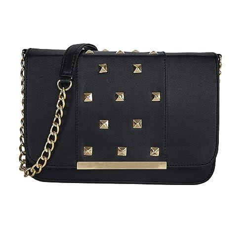 76c4c03e6f47 ADISA SL5020 black women girls party sling bag: Amazon.in: Shoes ...