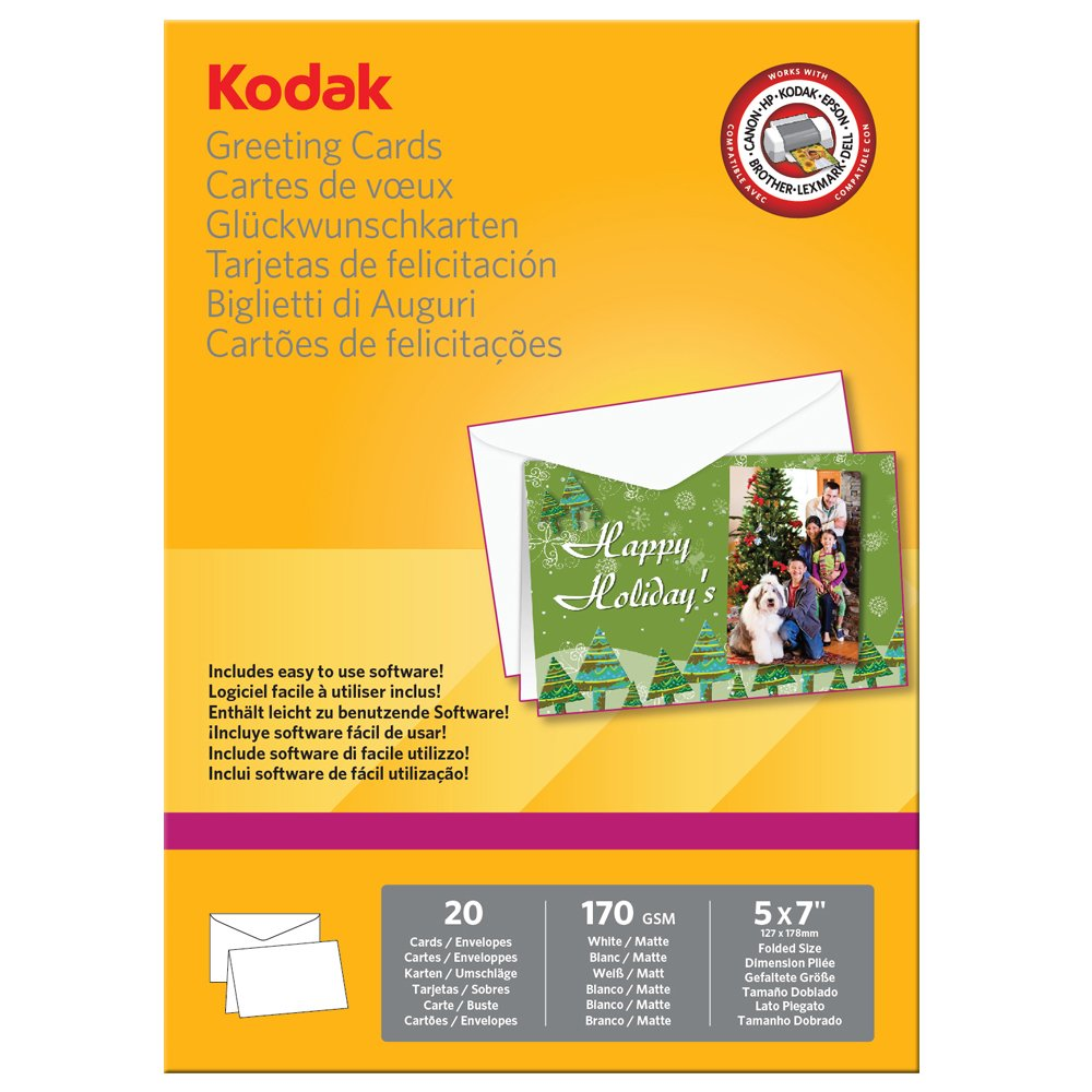 Kodak 254x178mm greeting cards pack of 20 amazon office kodak 254x178mm greeting cards pack of 20 amazon office products kristyandbryce Gallery
