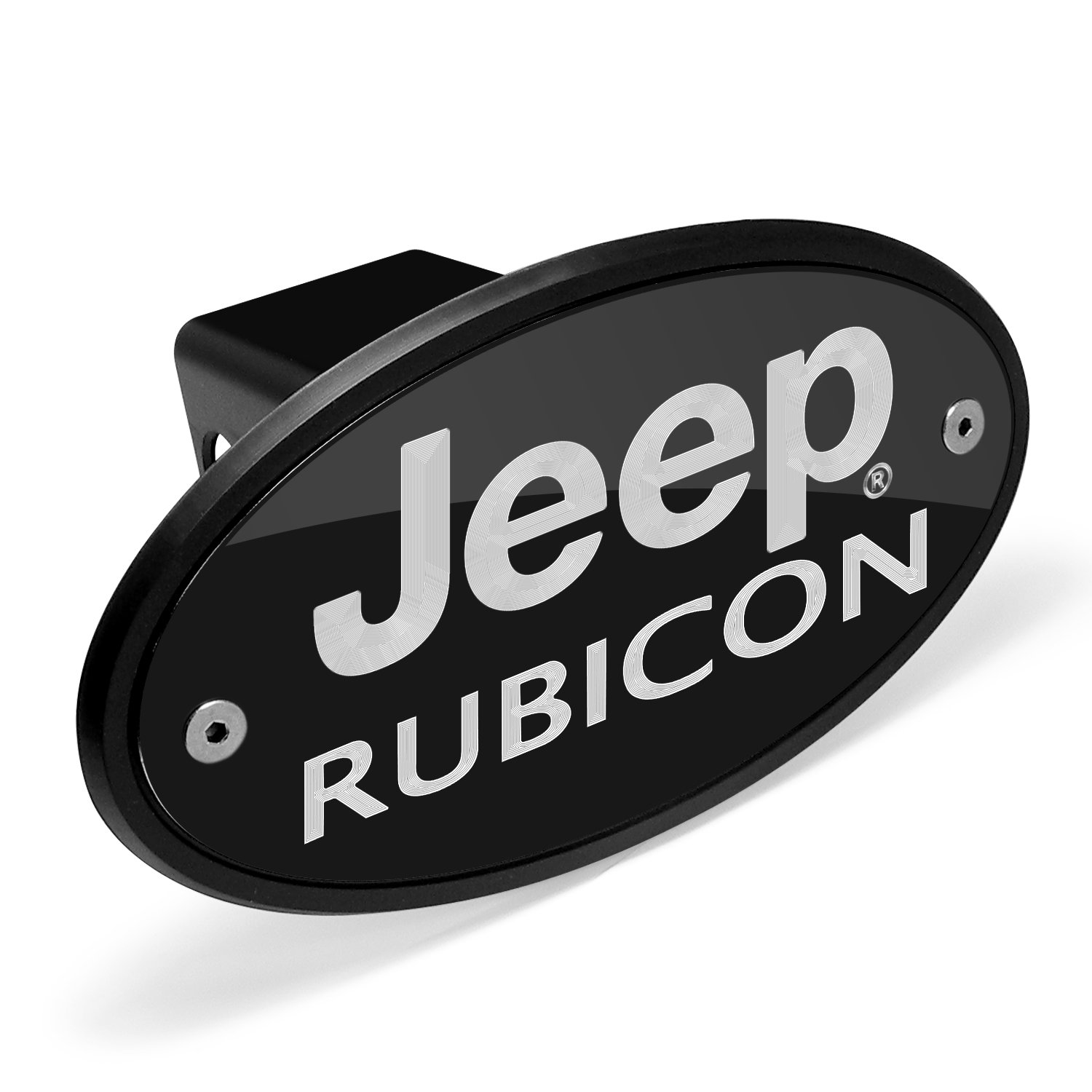 Jeep Rubicon Black Metal Plate 2 inch Tow Hitch Cover Universal Brass 4332984429