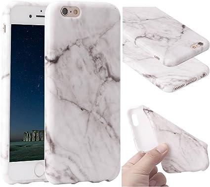 Funda iPhone 6s Marmol, ZXK CO Carcasa de Silicona Suave Case ...