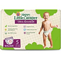 Happy Little Camper x Hilary Duff Ultra-Absorbent Hypoallergenic Natural Baby Diapers with Bio-Core Blend and Strong…