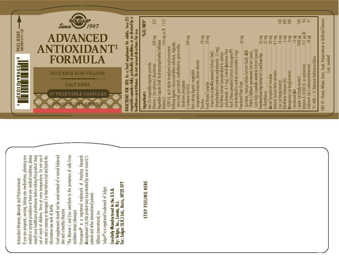 SOLGAR - ANTIOXIDANTE AVAN 30cap161032: Amazon.es: Salud y cuidado personal