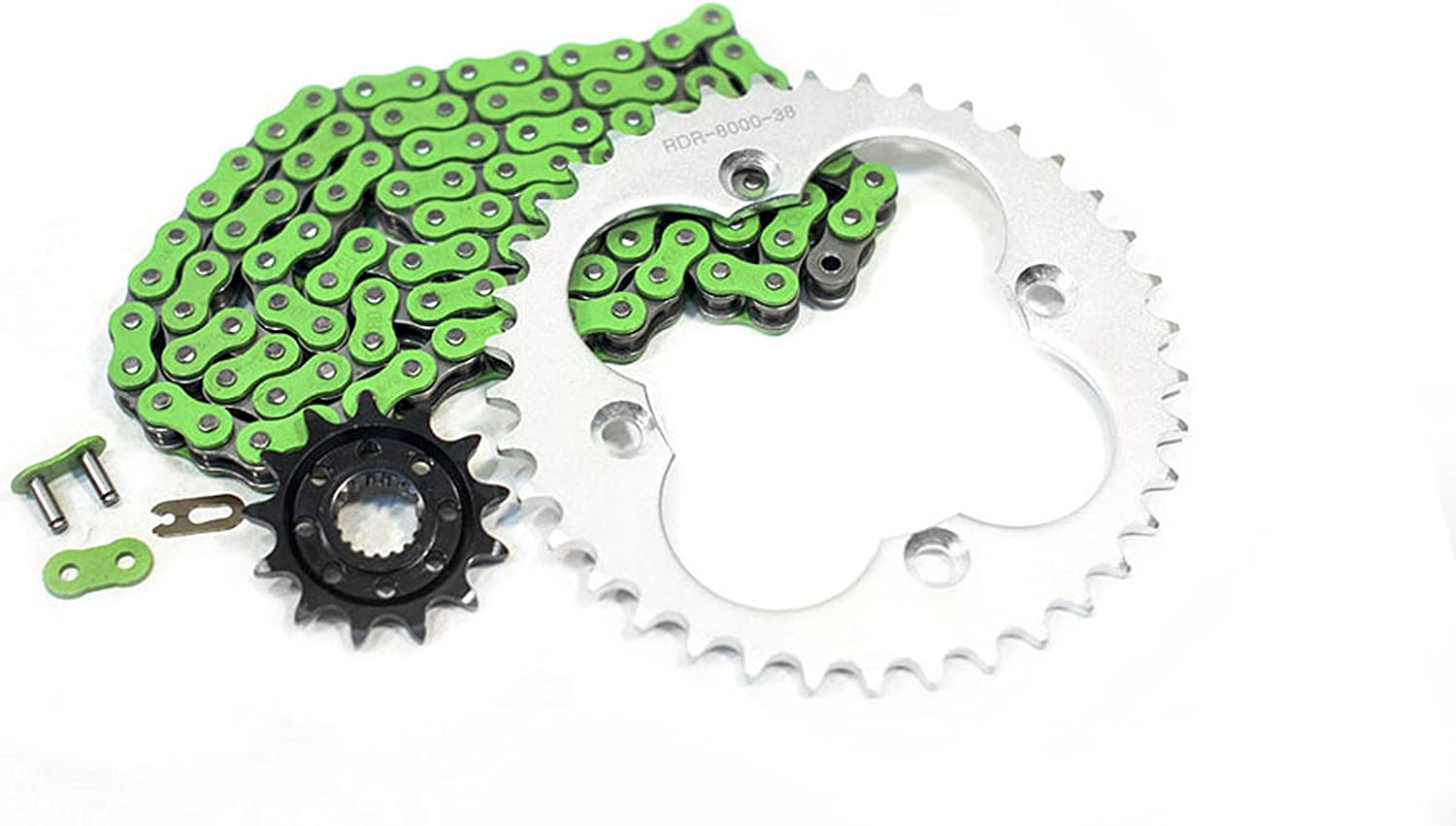 04-05 Fits Honda Sportax TRX450R Non O-Ring Green Chain /& Silver Sprocket 13//38 94L