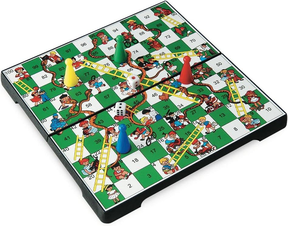 Juego JU01013 - Travel Game, Snakes & Ladders, Viaje y de Bolsillo Infantil, magnético: Amazon.es: Juguetes y juegos