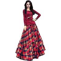 Women's parita all colour Party Gown multi (red)