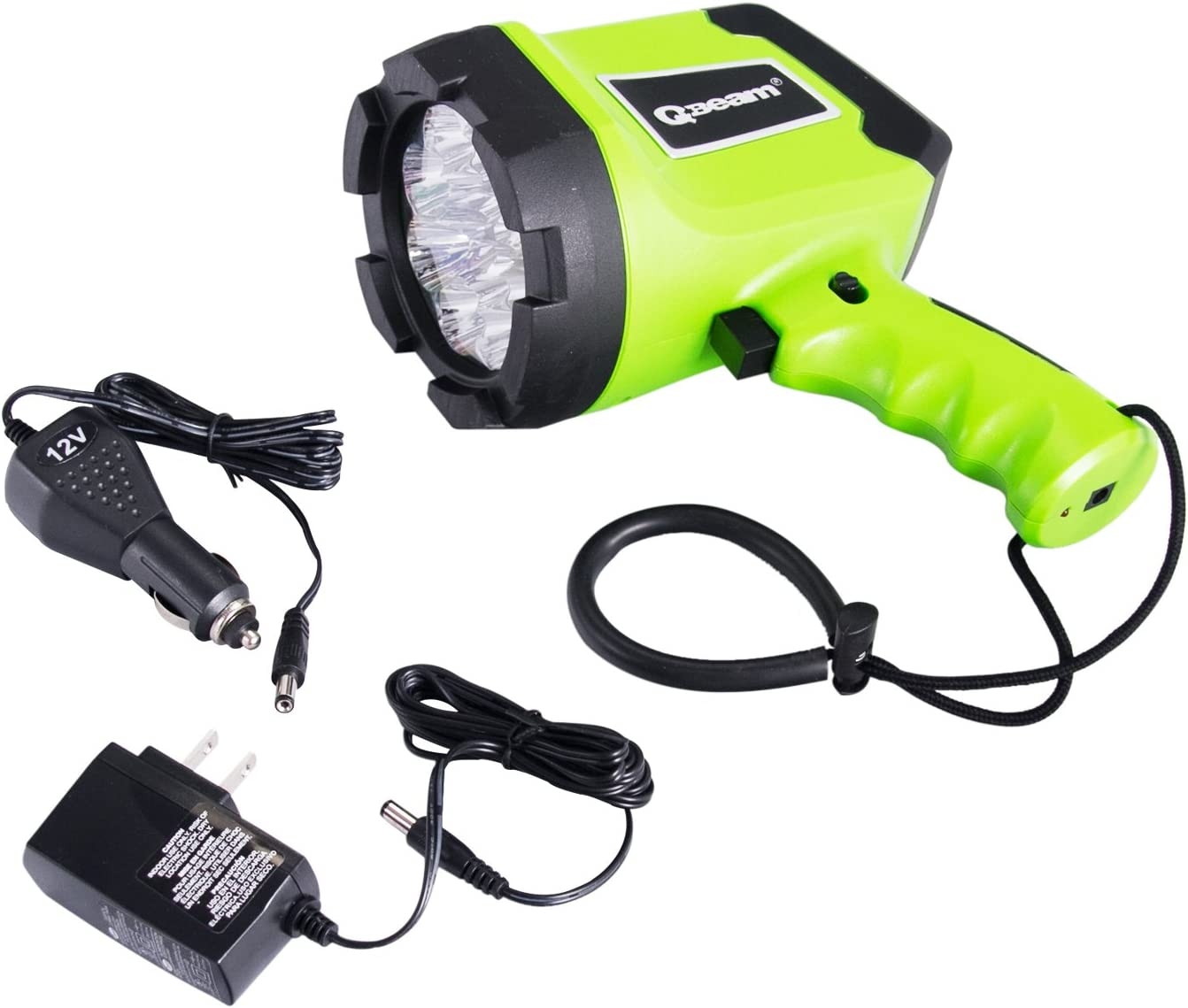12 LED Spotlight Offroad Automotive//Garage //Emergency// Boating//Fishing//Hunting//Camping//Hiking//Patrolling 800-2701-1 Brinkmann Qbeam LED Rechargeable Spotlight