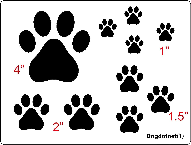 Dogdotnet Plantilla De Estampado De Huellas De Perro Y Gato Varios Tamaños Arte Manualidades Y Costura