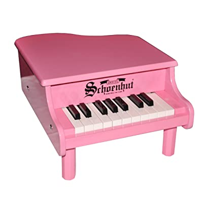 Schoenhut 18-Key Mini Baby Grand - Pink: Toys & Games