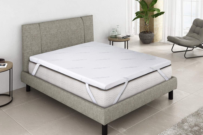 Imperial Confort - Topper viscoelástico - Ideal para aliviar tensiones musculares y puntos de presión - Grosor 5 cm - 105x180