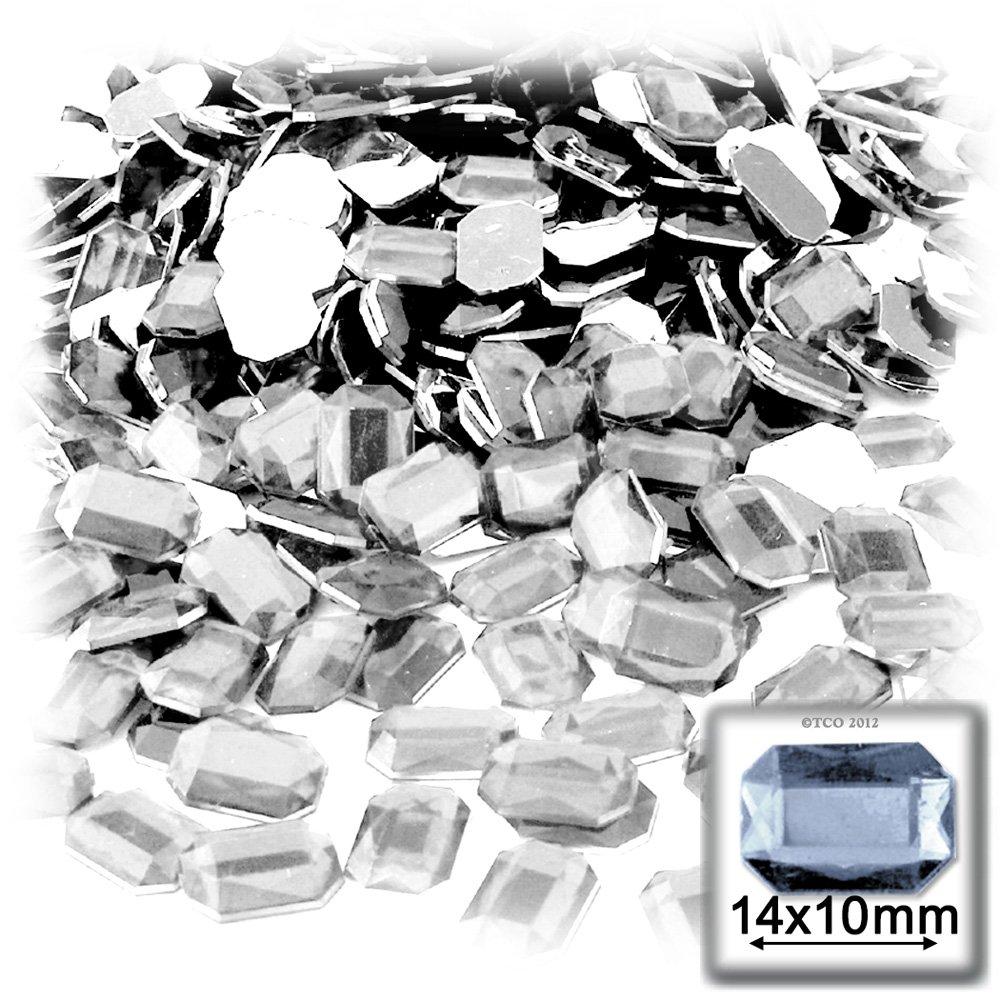 Amazon.com  The Crafts Outlet 144-Piece Acrylic Aluminum Foil Flat Back  Octagon Rectangle Rhinestones 26b35e42e656