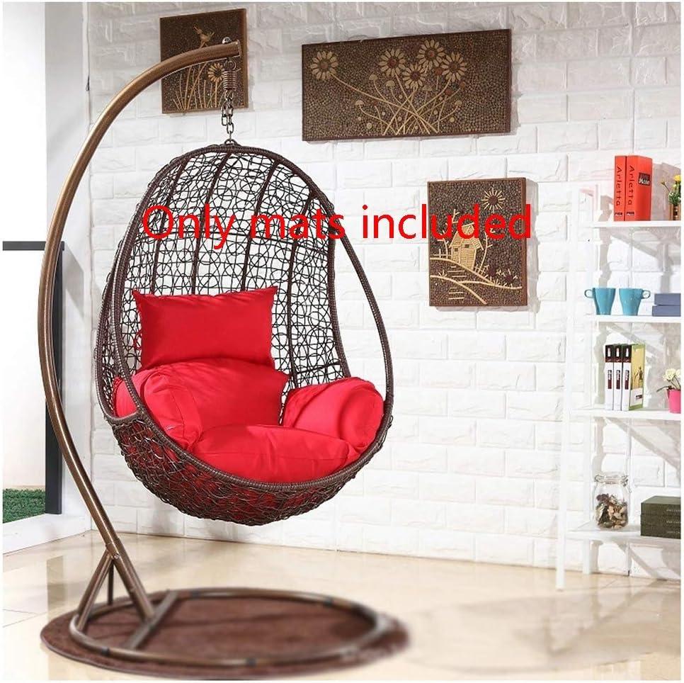 Non Includere Una Sedia Sospesa Addensare Culla Sedia di Vimini Comfort Cuscino for Sedia Lavabile Poltrona da Letto Spessa Coprisedile Relax Cuscino for Sedia Sospesa,Sedia in Rattan Cuscino