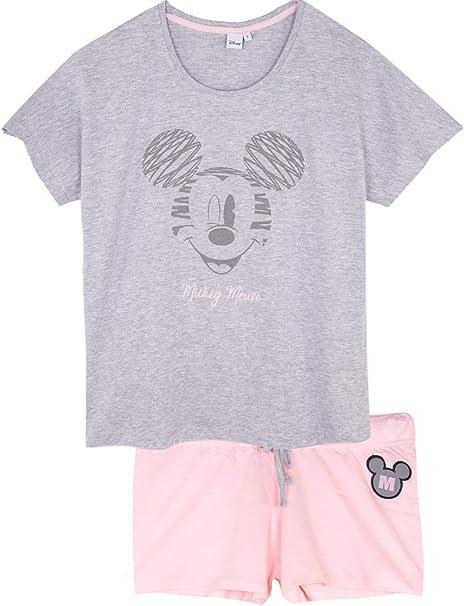 dise/ño de Minnie Mouse Disney Pijama Corto para Mujer algod/ón