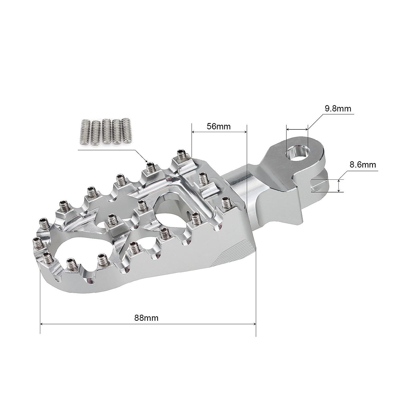 TARAZON MX Wide pedane pedali poggiapiedi per SX EXC 65 125 200 250 300 99-15 SXF EXC-F 250 350 400 450 505 500 525