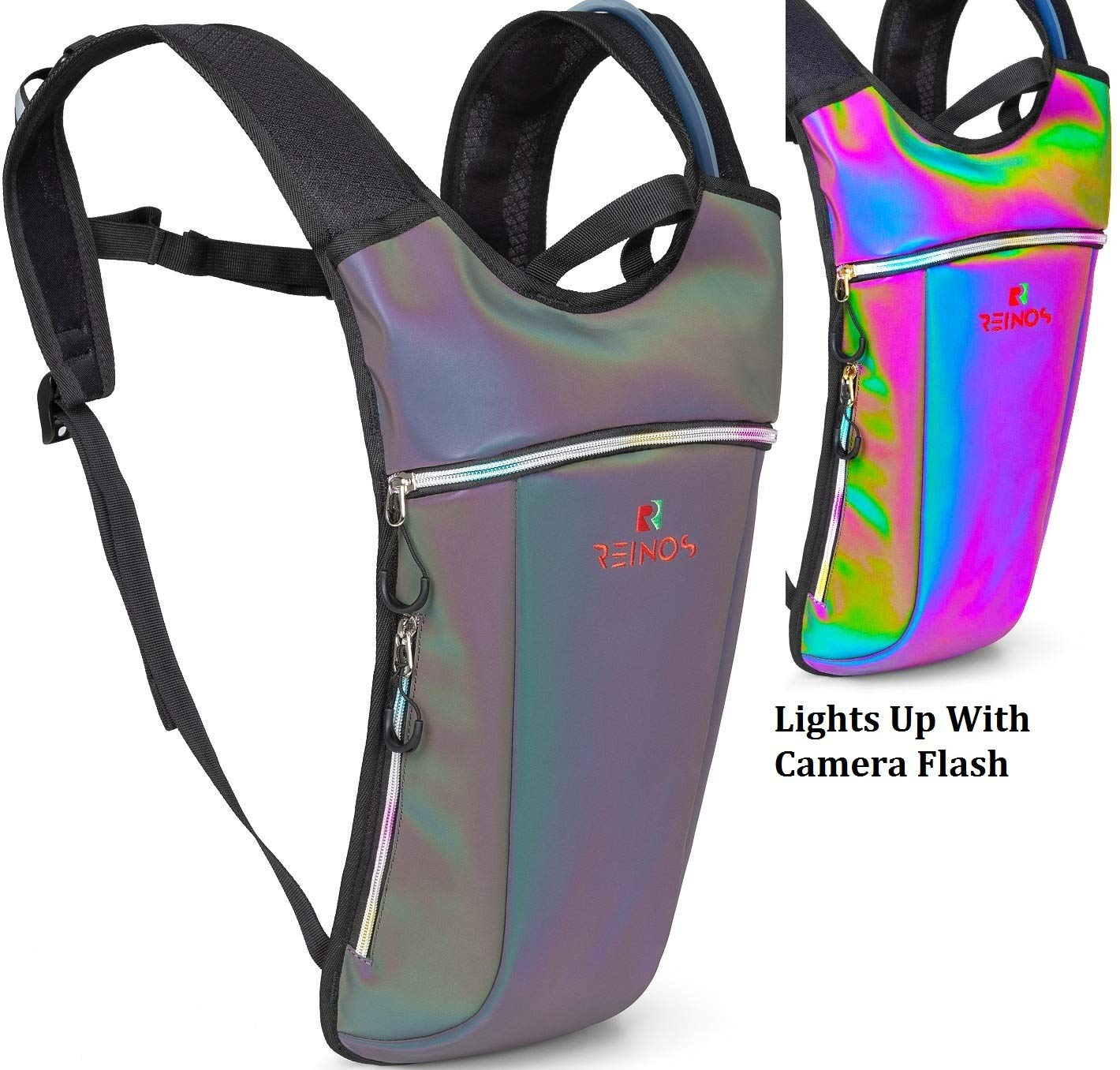 Hydration Backpack – Light Water Pack – 2L Water Bladder Included for Running, Hiking, Biking, Festivals, Raves