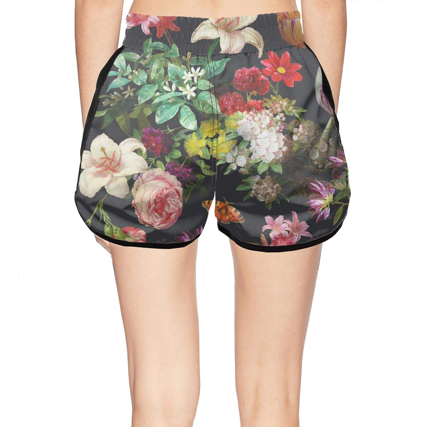 XULANG Woman Best Floral Poster Swimming Trunks Swim Street Swimwear Quick-Dry Boardshorts by XULANG (Image #2)