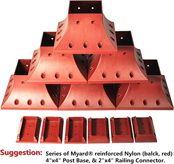 Myard 4x4 actual 3.5x3.5 Inches Post Base Cover Skirt Flange w//Screws for D...