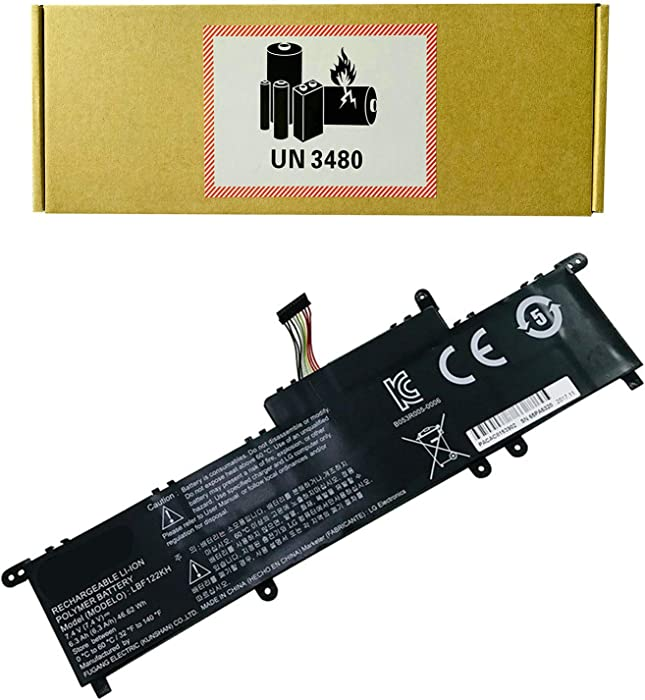 CQCQ LBF122KH Compatible Battery Replacement for LG Xnote P210 P220 P330 P210-G LGP21 SE35K SE50 Series Laptop (7.4V 6.3Ah/46.62Wh)