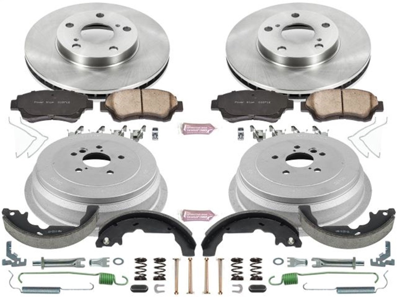 Rotor Power Stop Front /& Rear KOE15179DK Autospecialty Daily Driver Pad Drum and Shoe Kits