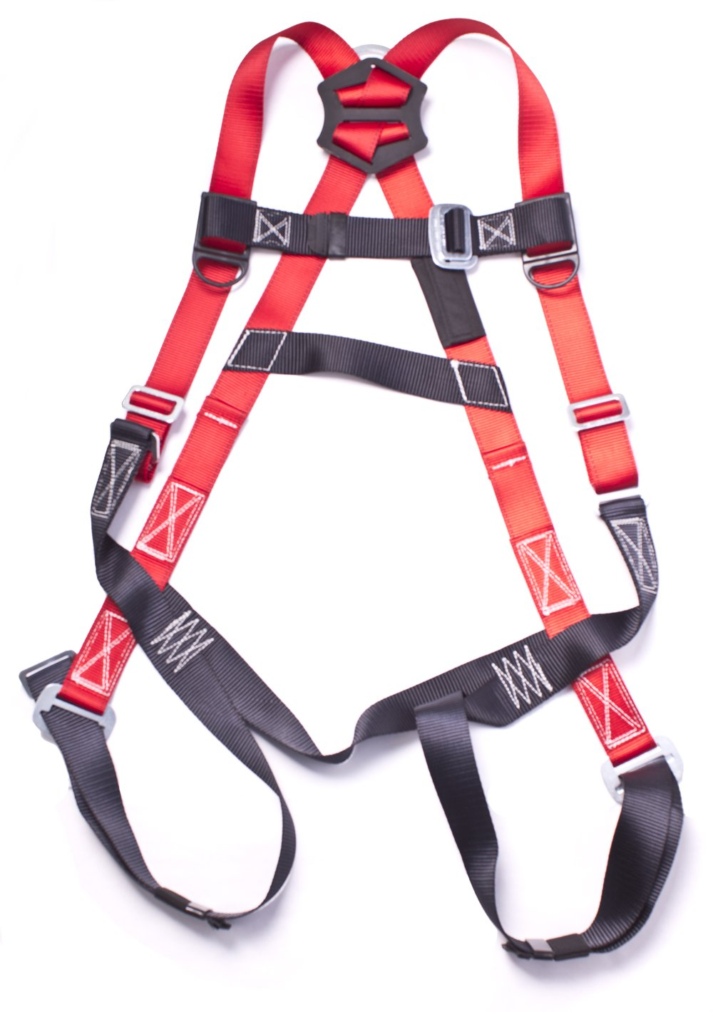 Gulfe Warehouse Adjustable Safety Harness Full-Body Picker w/Pass Through Legs Black/Red
