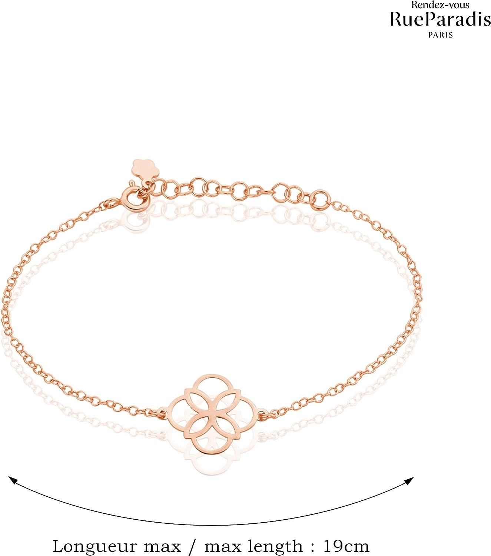Id/ée Cadeau Diff/érents Motifs Selon Mod/èle : Argent 925 Sterling//Massif OU Plaqu/é Or 18 Carats 3 Microns Rendez-vous RueParadis Paris Bracelets Cha/îne Bijou Femme