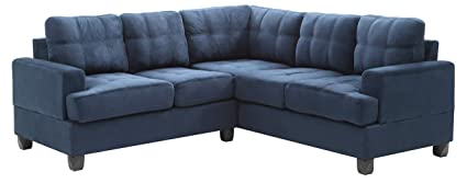 Incredible Glory Furniture G510B Sc Sectional Sofa Navy Blue 2 Boxes Ncnpc Chair Design For Home Ncnpcorg