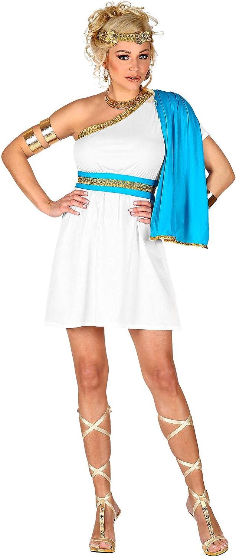 WIDMANN 02642 Disfraz de diosa griega, para mujer, blanco, M ...