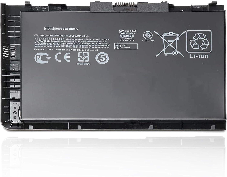 BT04XL Battery fit for HP EliteBook Folio 9470 9470M 9480M Series HSTNN-DB3Z HSTNN-IB3Z 687945-001 BA06 14-b109wm 687517-1C1,14.8V 52Wh