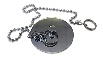 3 4 Plugs >> Sixovus Bath Plug 1 3 4 45mm Chrome Sink Stopper Plugs With Chain Fits Most Sinks And Bath Tubs