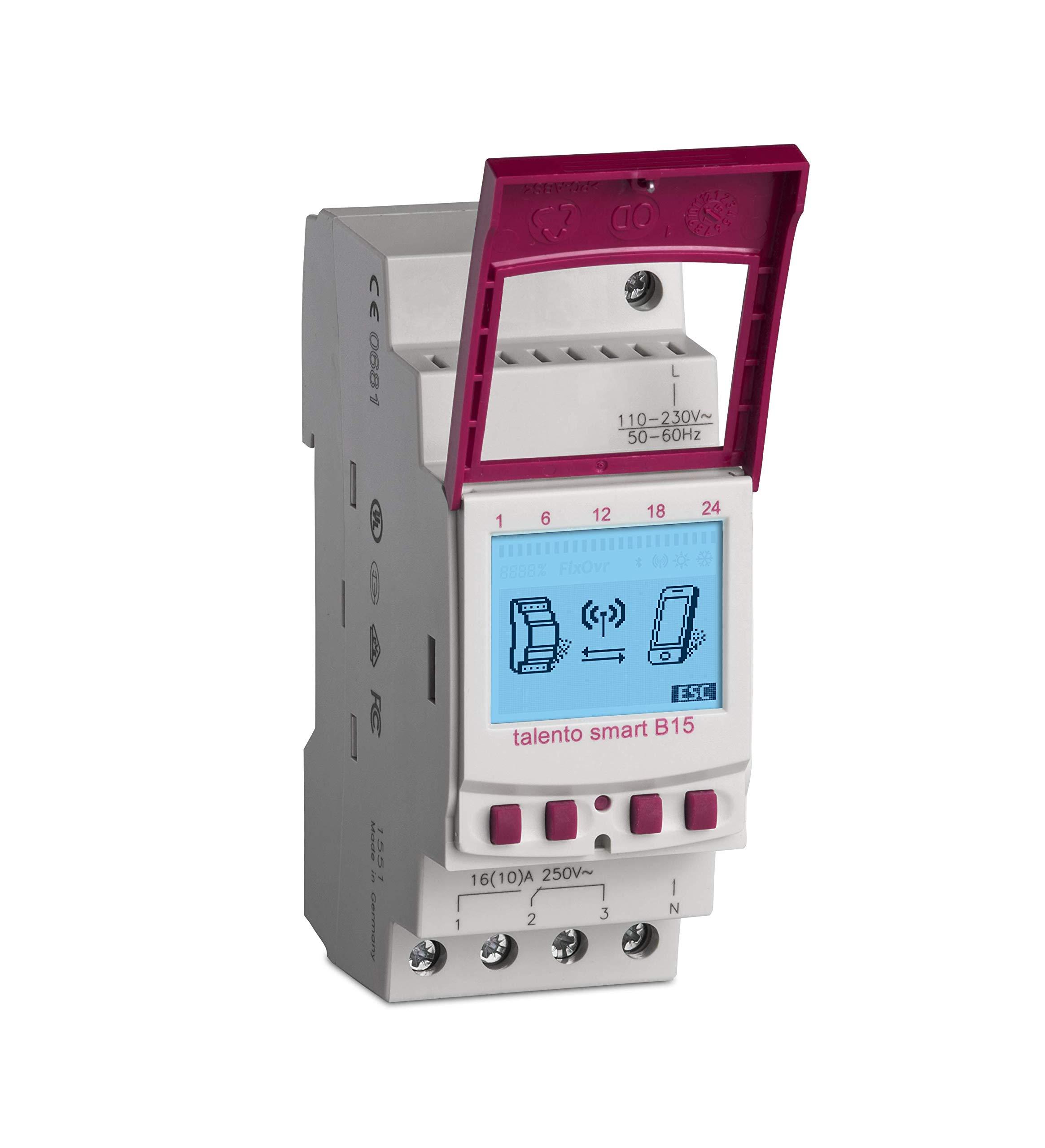 Grässlin talento smart B15 - 43.02.0001.1 - Digital Switch with Wireless Bluetooth 4 Connectivity - 1 channel - DIN Rail…