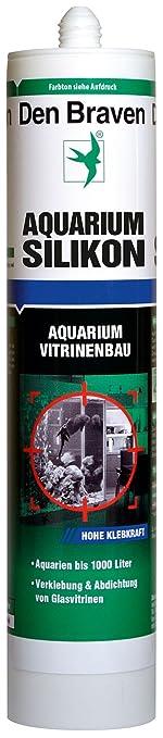 Den Braven CSS33A105005 Den Aquarium SILIKON 300ml SCHWARZ, süß-und meerwasserbeständig, hohe Elastizität, Aquariensilikon Ma