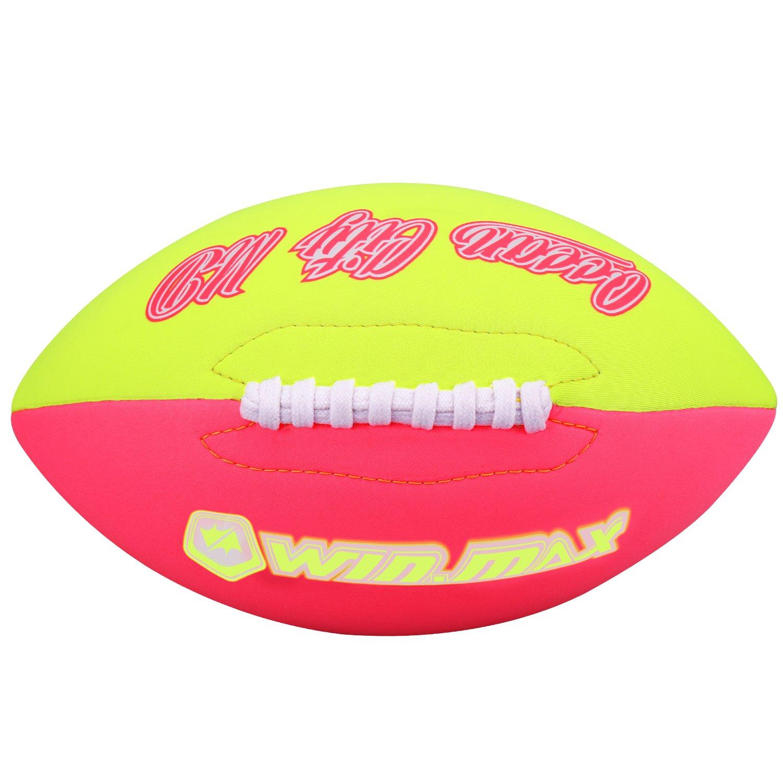 Molee Neopren American Football, Größe 6, ca.26cm x 15cm, Verbesserte Verarbeitung der Nähte und des Ventils Größe 6