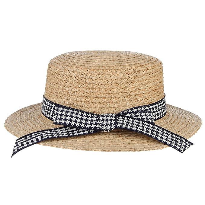 e00d20b3 August Jim Sombreros de Playa para Mujer de Verano a la Moda Rafia ...