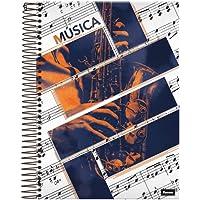 Caderno Universitário de Música Espiral Capa Dura 96 Folhas Foroni
