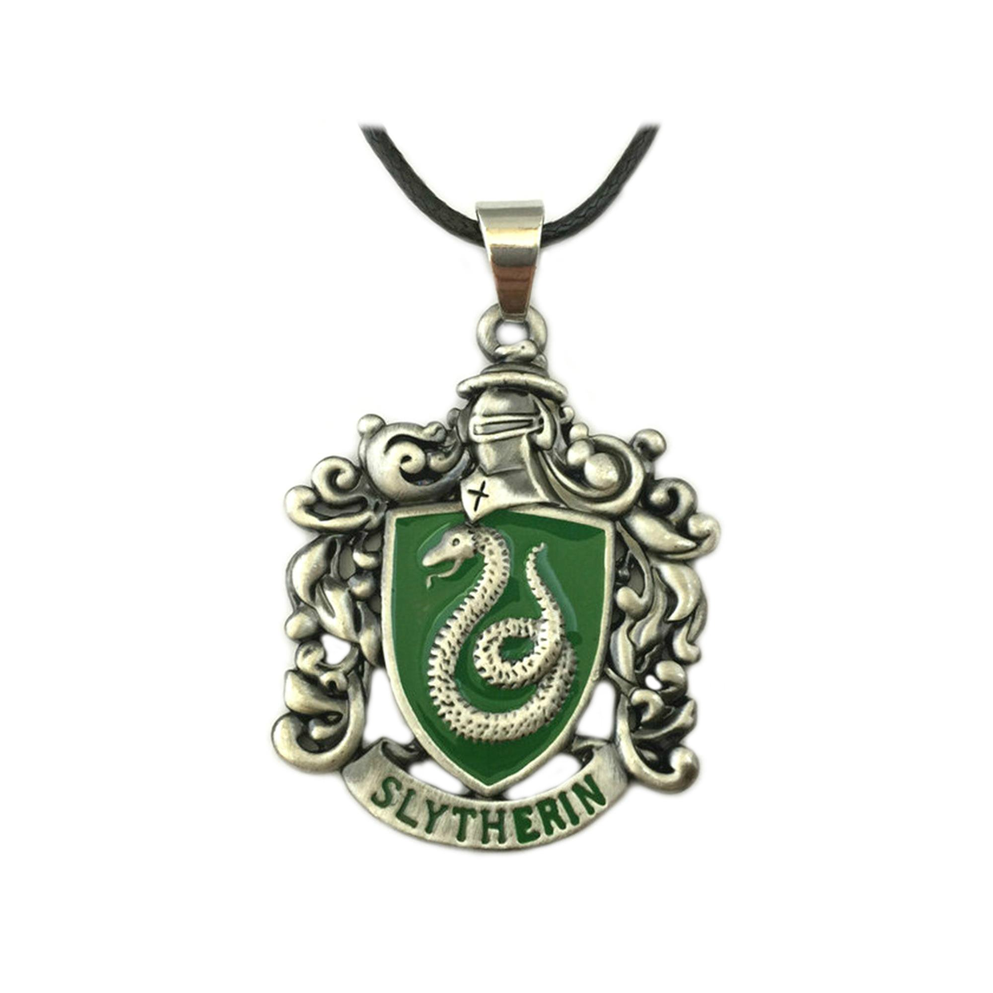 Harry Potter Slytherin House Crest Movie Costume Cosplay Necklace Pendant by Athena Brand