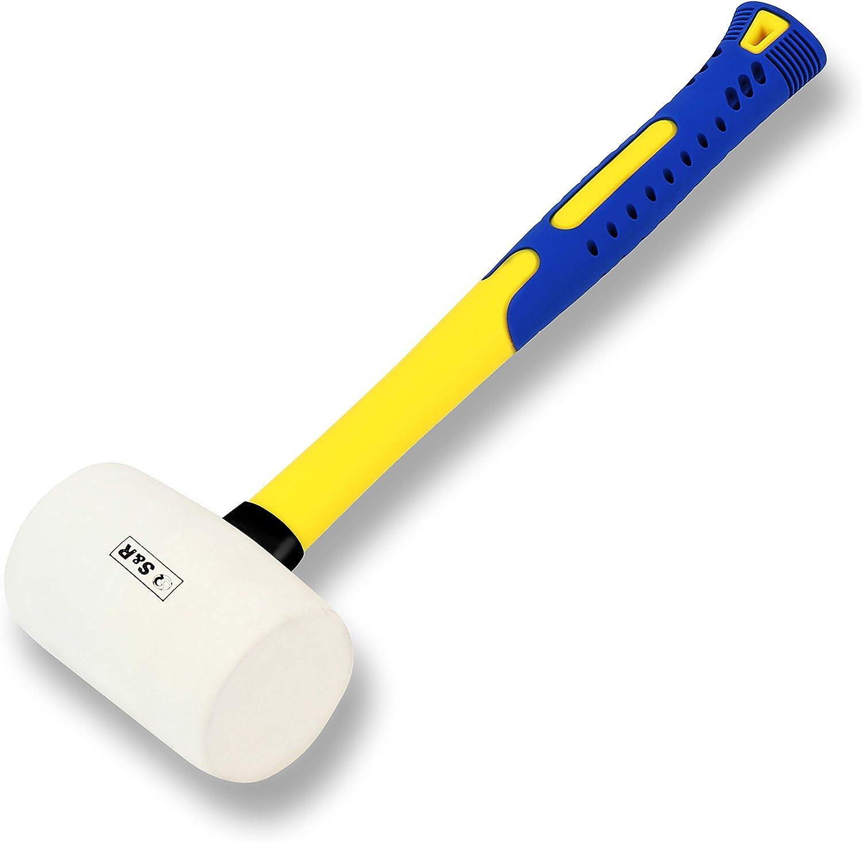 mini marteau en caoutchouc N//V Marteau /à t/ête ronde avec manche en plastique magn/étique pour le travail du bois et outil /électronique