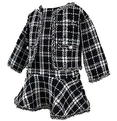 469c64d1440b0 子供服 ワンピース 女の子 スーツ フォーマル セットアップ コート チェック柄 ベビー服 キッズ 卒園式 入学